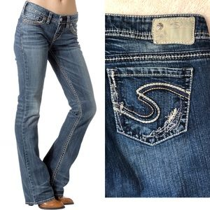 Silver Jeans • Blue Aiko Bootcut Jeans • Size 27